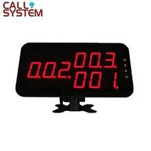 K 4 C de pantalla del sistema de llamada inalámbrica para servicios de restaurante, pantalla con 3 números de dígitos