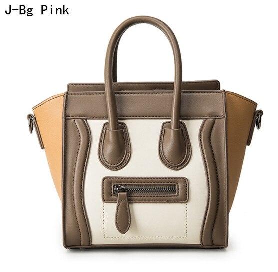 Bolsos Mujer 2017 Trapeze Smiley Tote Bag Luxury Brand Pu Leather Women's Handbag Shoulder Bag Famous Designer Crossbody Tasc