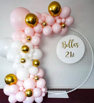 143pcs Latex Balloons Set Birthday Party Decoration  Pink White Mixed Balloon Arch Garland for Wedding  Supplier