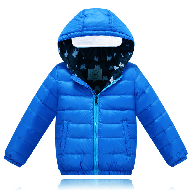 ФОТО 2016 Winter New Arrival Kids Down Coat Boys Casual Sport Down Jacket Cold-proof Girls Clothes Overcoat Children