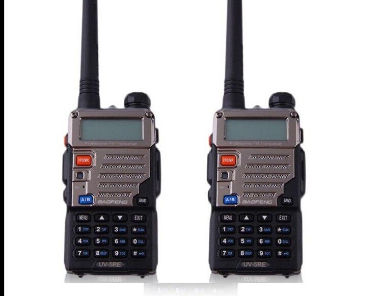 bilder für 2 stücke Pofung Baofeng Walkie Talkie Zweiwegradio Uhf Vhf Dual Band FM VOX 128CH Radio Kommunikator Für Baofeng Uv 5re Plus 5 watt