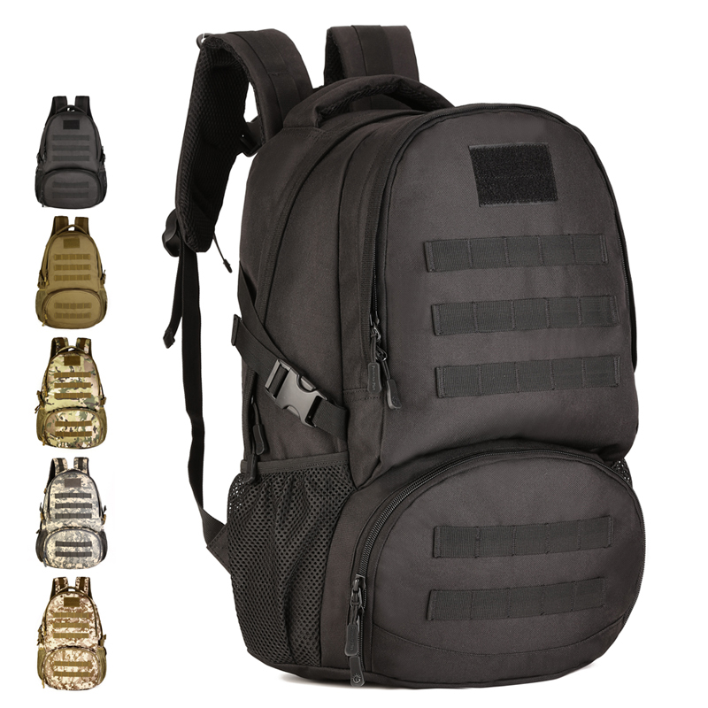 Outdoor Backpack 35L Nylon Camo MOLLE Tactical Assault Pack Hiking Climber Camping Hunting