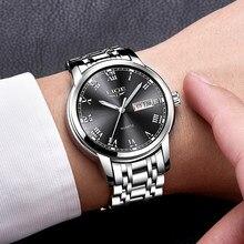 LIGE-montre-bracelet de sport pour hommes, de marque de luxe, entièrement en acier, Date, à Quartz, décontracté