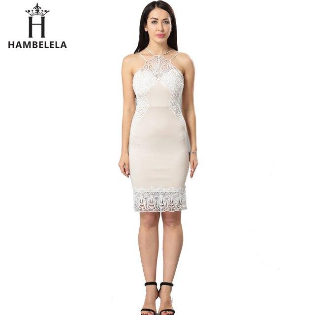 Hambelela Summer Style Sexy Formal Bodycon Dress Elegant Halter Midi