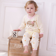 Lovely Cartoon Themed Ultrathin Cotton Baby Girl's Pajamas