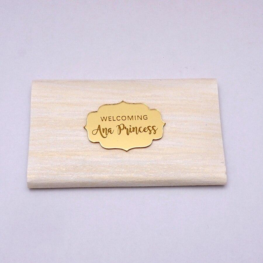 100 قطعة اسم مرآة الزفاف الحسنات مخصص شخصية الكلمات دعوة بطاقات عيد ميلاد حزب Babyshower ضيف هدايا 3 سنتيمتر 4 سنتيمتر 5 سنتيمتر-في هدايا الحفلات من المنزل والحديقة على  مجموعة 1