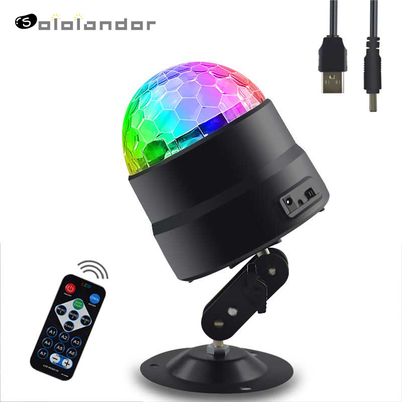 Newest 5V USB Disco Light Ball Lighting For Car Home Wedding Outdoor Party DJ Stage Light Projectorwith Remote Ajustable Base