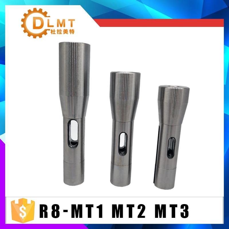 R8 Shank To MT1 MT2  MT3 R8 Drill Chuck Arbor Morse Taper Adapter Sleeve