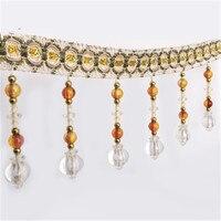 12m Goose Egg Beads Tassel Lace Curtain Trimmings Fringes Hanging Trim Sofa Curtains Accessories Decor