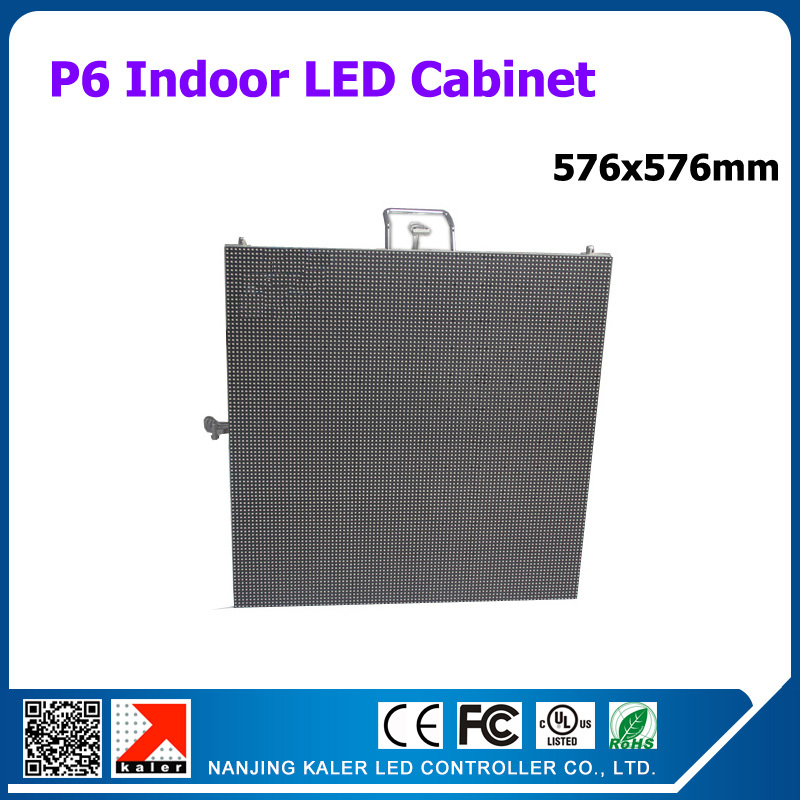TEEHO Indoor led display cabinet 576x576mm p6 led <font><b>billboard</b></font> 9pcs p6 led panel 192*192mm 3528SMD P6 LED <font><b>Sign</b></font> Rental Cabinet image