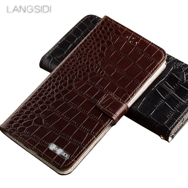 Wangcangli brand phone case Crocodile tabby fold deduction phone case For Samsung c9pro cell phone package All handmade custom in Flip Cases from Cellphones Telecommunications
