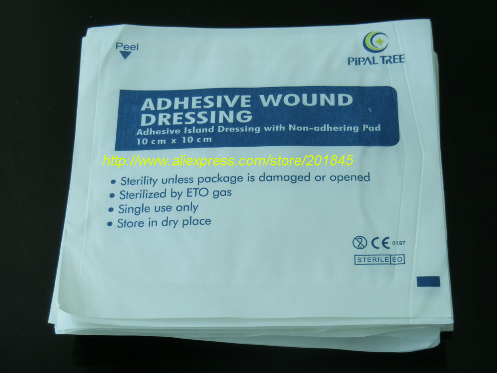 100pcs medical use hypoallergenic no woven wound dressing adhesive absorbet bandage large wound emergency outdoor accessories Wholesale 100 Pcs Non-woven Gauze Bandage Cloth Medical Sterilization Gauze Auxiliary Medical Hemostatic Patch Adhesive Wound