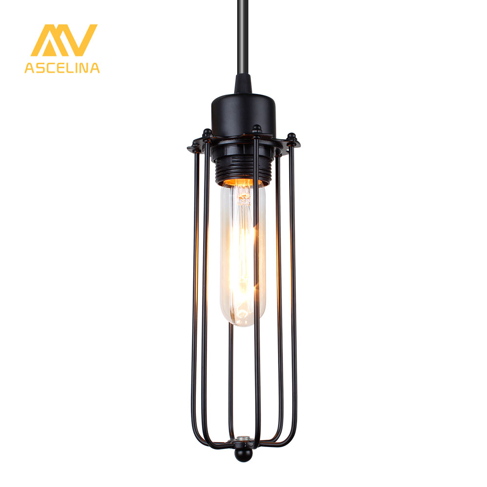 ASCELINA American Retro Loft Pendant lights Industrial Style led lamp Home lighting Bar Restaurant Cafe E27 Light Wrought Iron new loft vintage iron pendant light industrial lighting glass guard design bar cafe restaurant cage pendant lamp hanging lights