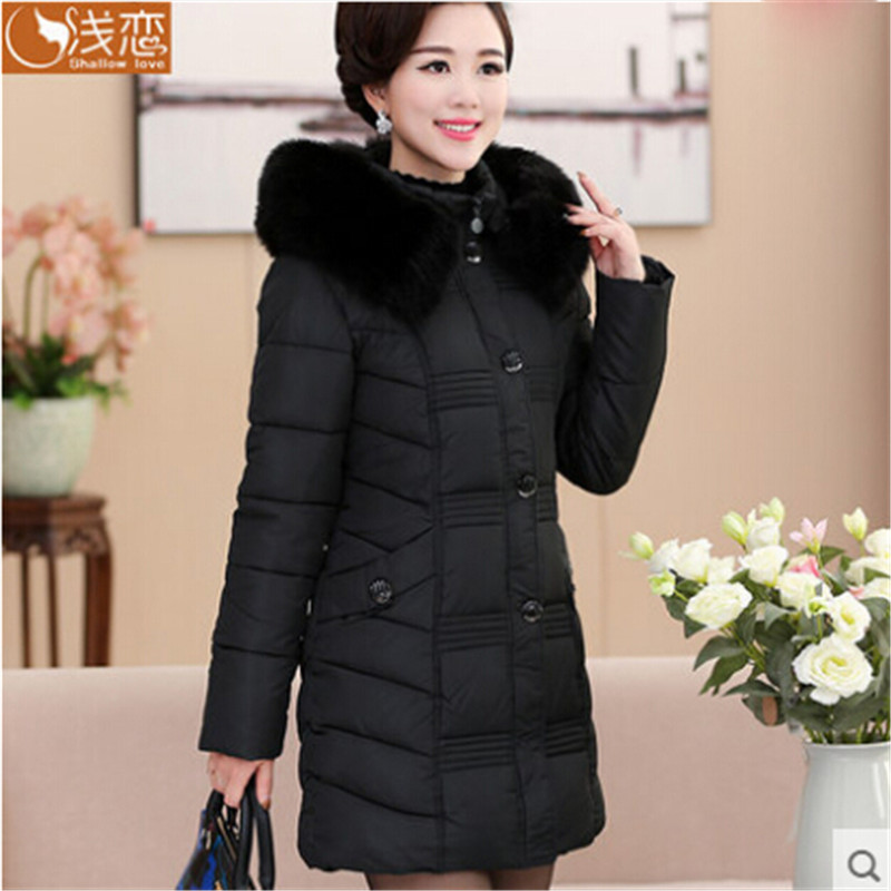 ФОТО Women Winter Parka Long Sleeve With Fur Hood Fashion Jackets And Coats Plus Size Female Fashion Long Coats Wt1221