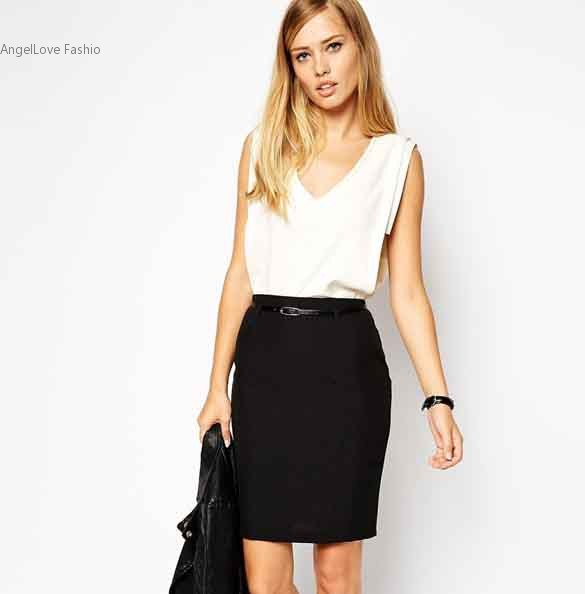 Wear Black Pencil Skirt Promotion-Shop for Promotional Wear Black ...