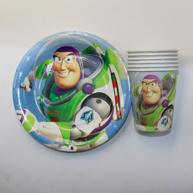 Toy Story theme paper cup+7inch paper plate tableware for children birthday party supplies cup & Toy Story theme paper cup+7inch paper plate tableware for children ...