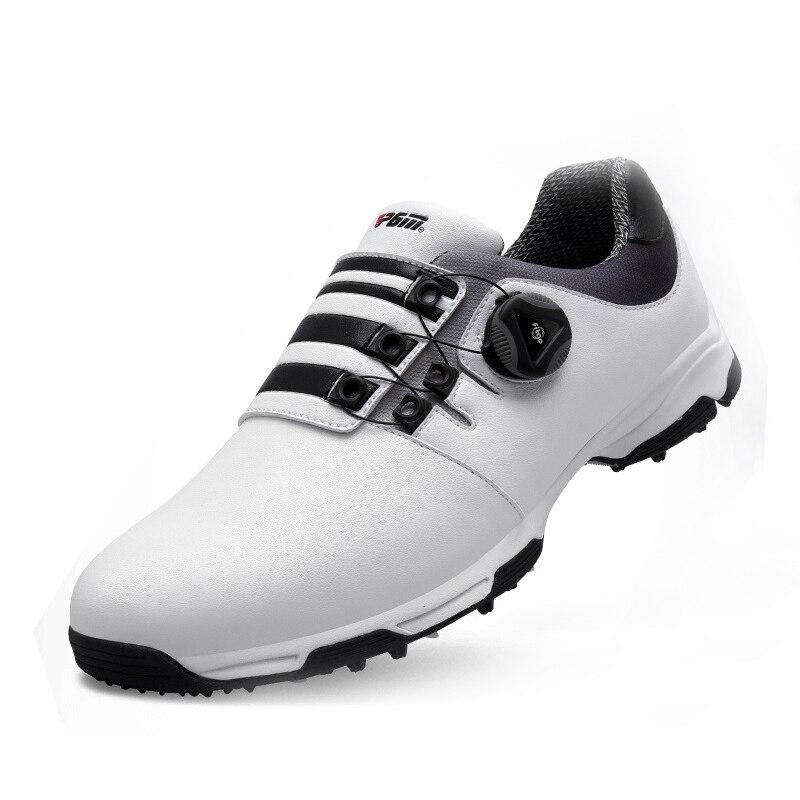 Golf Schuhe Männer Wasserdicht Atmungsaktiv Golf Schuhe Männer Knöpfe Schnalle Rutschfeste Sport Schuhe Outdoor Stoßfest Turnschuhe Männlichen