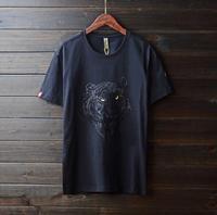 Pure Cotton Brand Clothing Hip Hop Short Sleeve Men 2018 K958