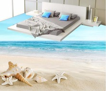 3d Bodenbelag Seestern Conch Meer Wasser Strand 3D Bad Boden Malerei 3d  Boden Malerei Tapete