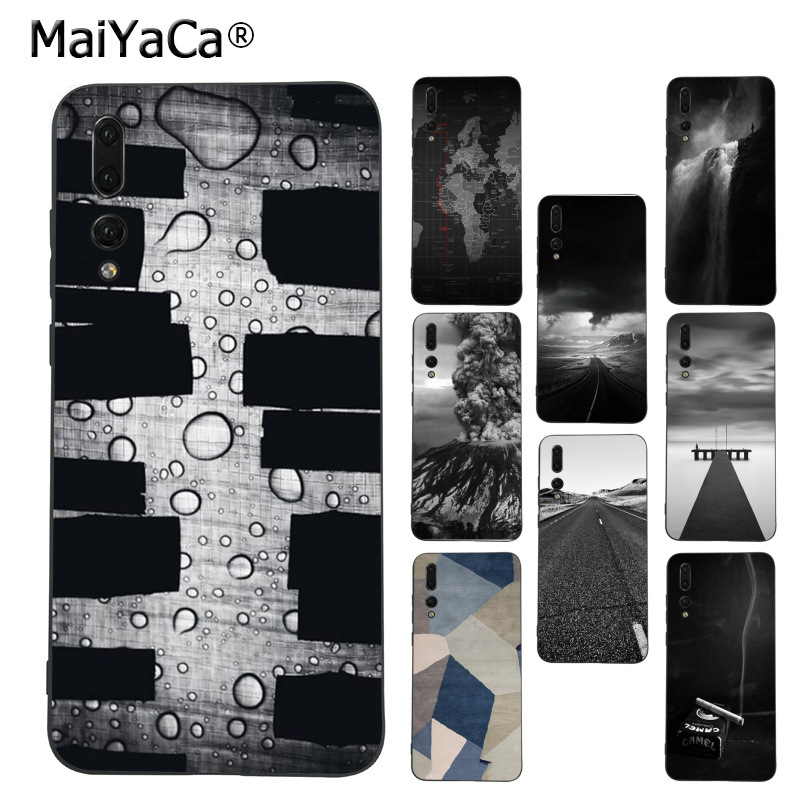 MaiYaCa Ash Road Pattern Skin Volcano phone accessories cover case for Huawei P9 10 plus 20 pro mate9 10 lite honor 10 view10 image