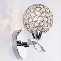 Modern Simple Crystal Wall Lamp Creative Fashion Bedroom Bedside Lamp Restaurant Hall Lantern Kitchen Sconce Wall Lights