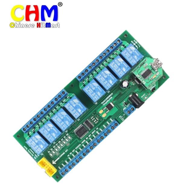 Relé del controlador de ethernet de puerto serie usb 8 Canales Módulo de Relé Interruptor de Control de Ordenador de a Bordo Con 8 DC Entradas 3 unids/lote # J384