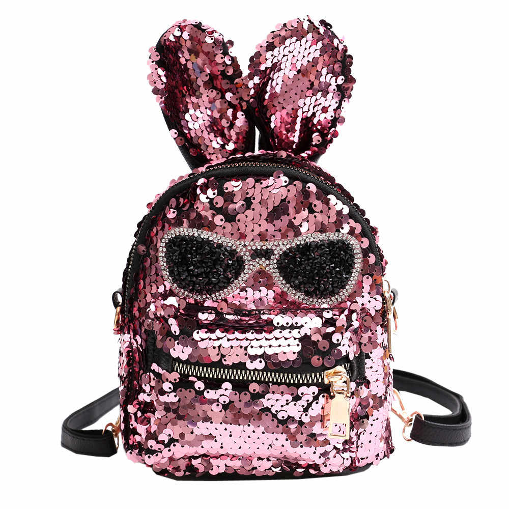 50a31e1faeea Fashion Cute Girls Sequins Shoulder Bag Student Children School Bag Travel  Backpacks Casual style Backpack