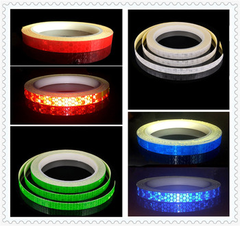 Fluorescent reflective belt truck car motorcycle bicycle safety sticker for BMW M8 M550i M550d M4 M3 E92 E38 E91 E53 E70 X5 M image