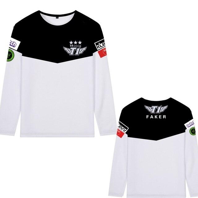 6d27c3558 2017 SKT T1 T shirt LCK Spring Champions Team Jersey SKTT1 T-shirt Men Faker  Peanut Bang Wolf SKT1 Shirt Game long sleeve shirt