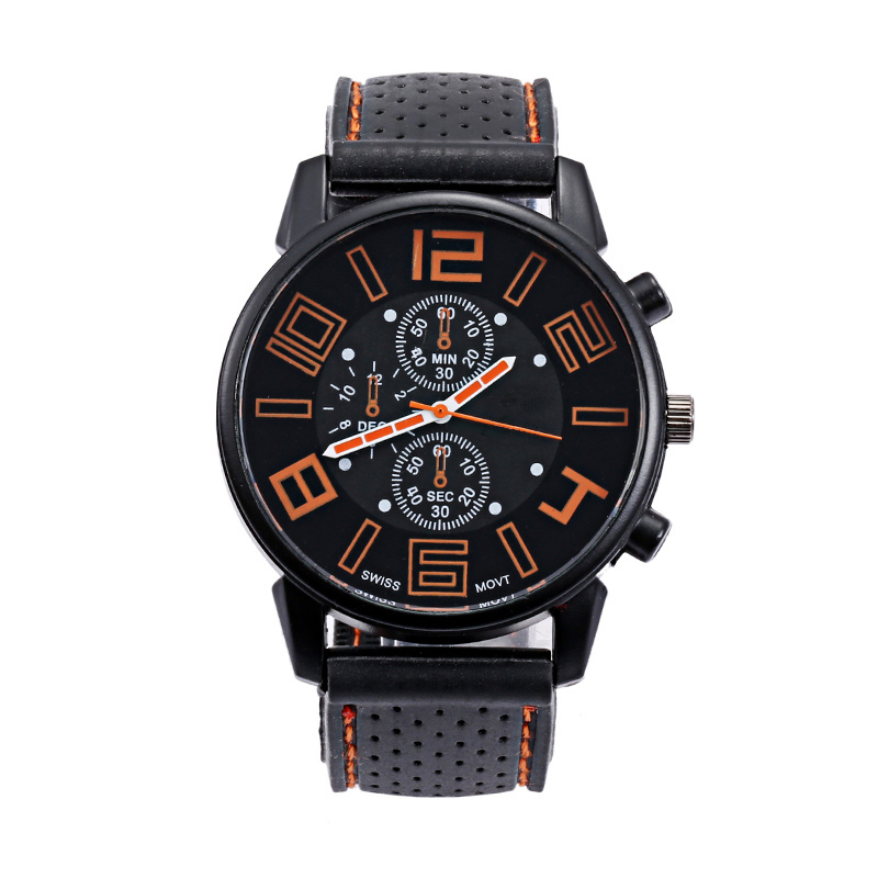Fashion Explosion Men Sport Watch GT Silicone Large Dial Male Quartz Watches Casual Business Analog Wristwatch Gift for MenHP36 goblin shark sport watch 3d logo dual movement waterproof full black analog silicone strap fashion men casual wristwatch sh165