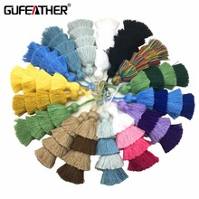 GUFEATHER L71/8CM 4layer/cotton tassels/jewelry accessories/DIY/jewelry making/hand made/diy jewelry/embellishments