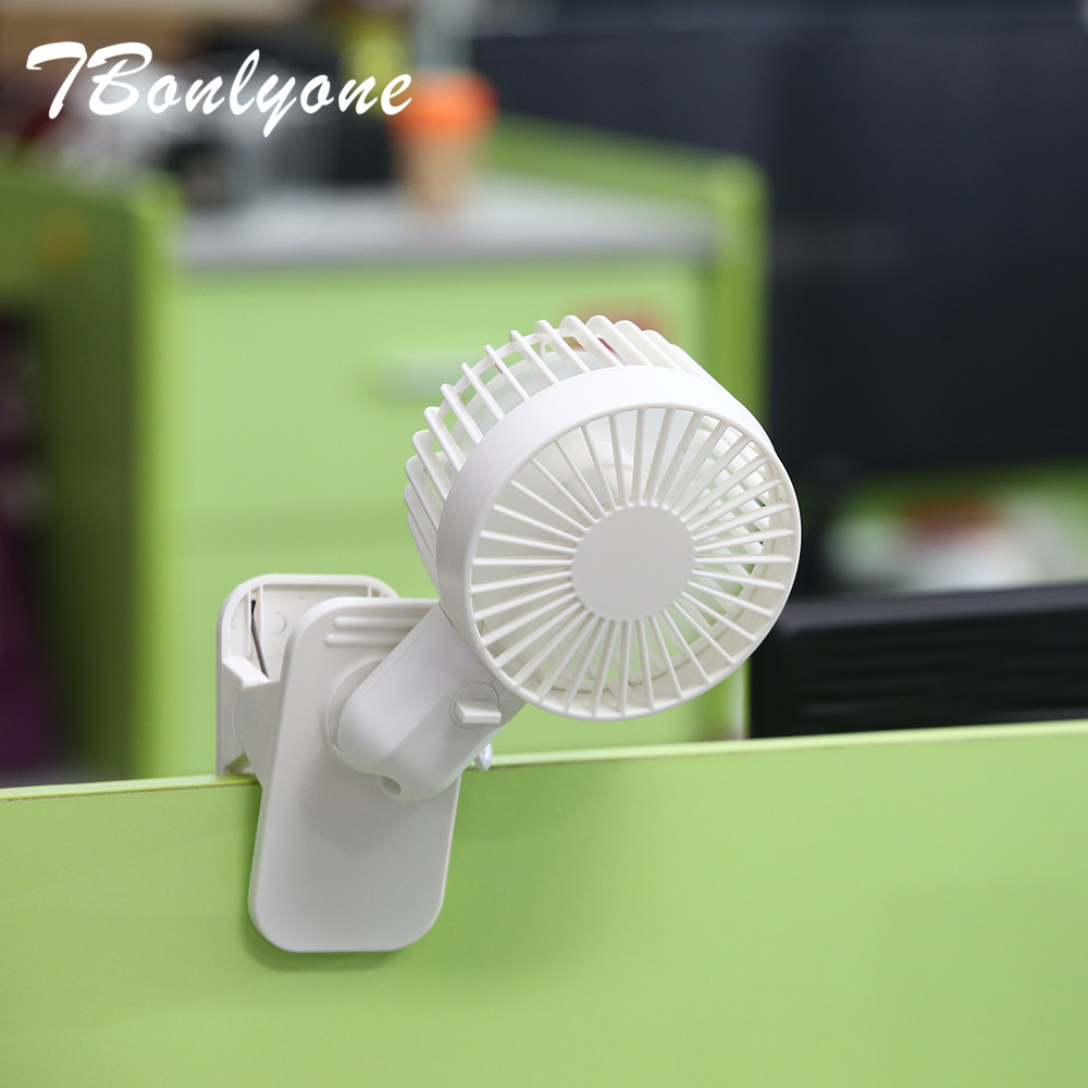 TBonlyone 3 Speeds Fan with Clip Multifunctinal Adjustable USB Fan without Battery Electric USB Mini Fan For Outside Office Baby