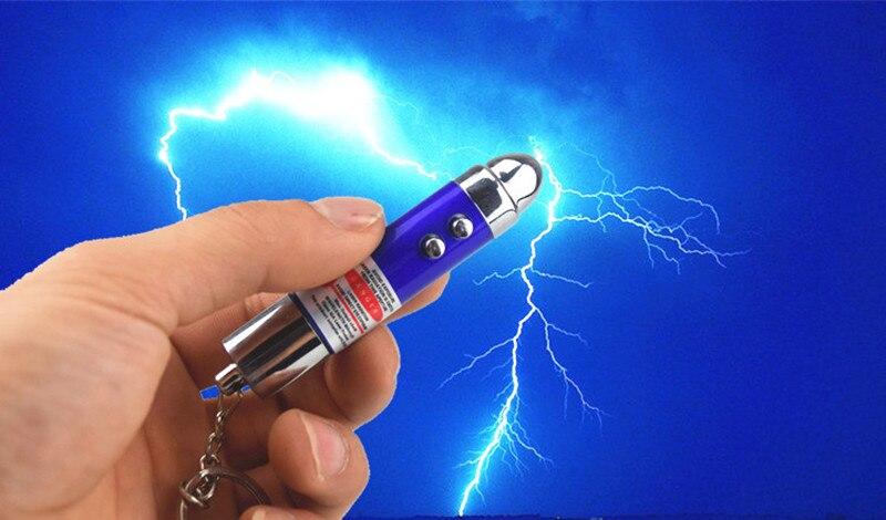 [Nouveau] 24 pcs/lot poisson d'avril jour de choc électrique balle laser lampe blague jouet astuce jouets porte-clés cadeau blagues jouet de fête - 3