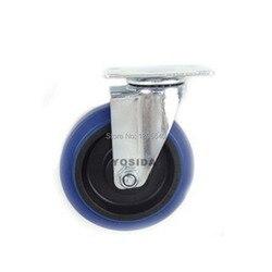 Nowy 5''Swivel koła kółka przemysłowe kółka uniwersalne koło cisza sztuczna guma toczenia ciężkich kółka|heavy caster wheels|caster wheelswivel wheel -