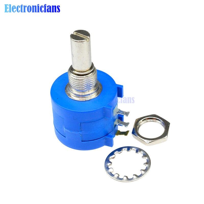 3590S-2-104L Pot de potentiomètre de précision bobiné rotatif 100K Ohm 10 tours