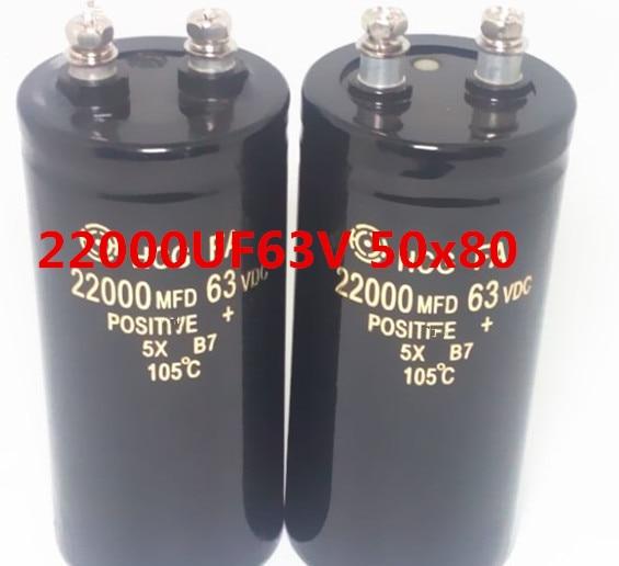 no logo 1pcs 63v 22000uf Electrolytic Capacitor Radial 22000UF 63V 50x80mm