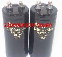 Yeni 63v 22000uf elektrolitik kondansatör 22000UF 63V 50x80mm
