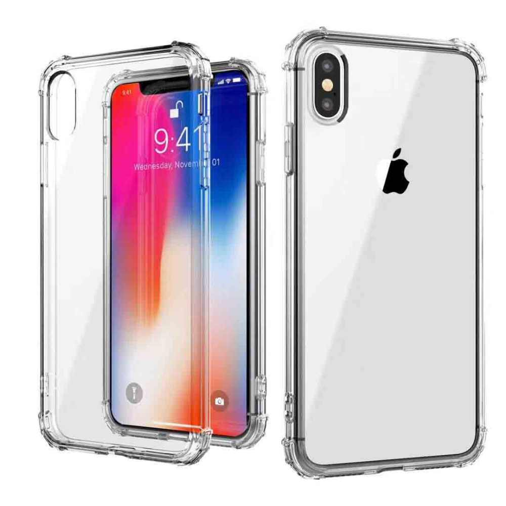 360 Degree Airbag Shockproof Soft Case For Iphone X XS Max XR 9 8 7 6 6S Plus 4 4S 5 5S Se Cases Anti-Knock Clear Silicone Cover