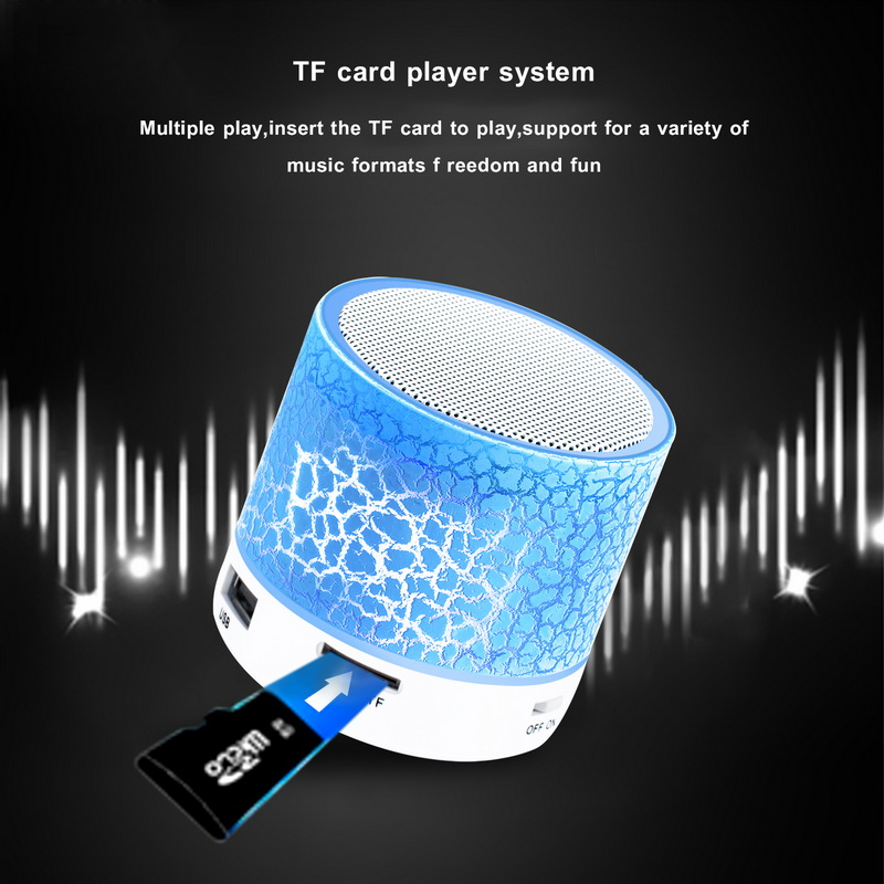 цена на Bluetooth Speakers Wireless Portable Mini LED Small Music Audio TF USB FM Light Stereo Sound Speaker For Phone Xiaomi with Mic