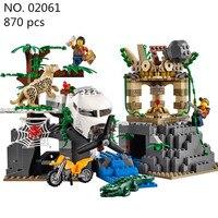 CX 모델 건물 장난감 키트 02061 정글 탐사 해적 잃어버린 방주 건물 벽돌 블록 레고