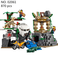 CX Models Building Toy Kits 02061 Jungle Exploration Raiders Of The Lost Ark Building Bricks Blocks