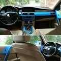 Samochód stylizacji nowy 5D z włókna węglowego wnętrza samochodu konsola środkowa zmienia kolor odlewnictwo naklejki naklejki dla BMW serii 5 E60 2004-2010