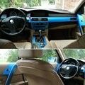 Voiture style nouveau 5D fibre de carbone voiture intérieur Console centrale changement de couleur moulage autocollant décalcomanies pour BMW série 5 E60 2004 2010|Autocollants De Voiture| |  -