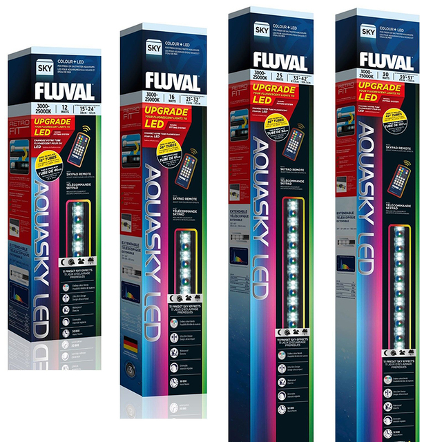 Fluval aquasky colour remote led lighting fish tank aquarium strip fluval aquasky colour remote led lighting fish tank aquarium strip white light mozeypictures Gallery