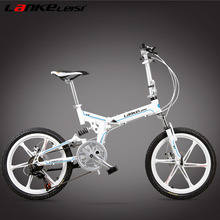 V8, 7 Speed, 20 inches, Folding Bike, Magnesium Alloy Rim, Front and Rear Disc Brake, Top Brand Speed Control System.