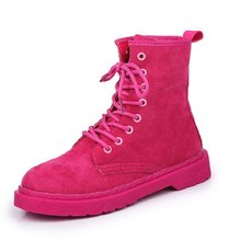 Shoes women 2019 new fashion wild Martin boots female summer breathable mesh red summer wild boots women(China)