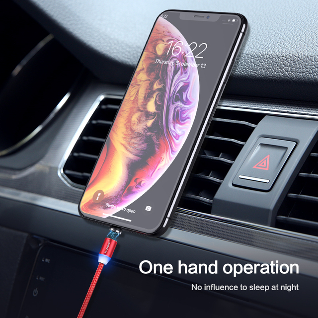 FLOVEME 1M Magnetic Charge Cable Micro USB Cable For iPhone 11 Pro Max XR Magnet Charger USB Type C Cable LED Charging Wire Cord 5