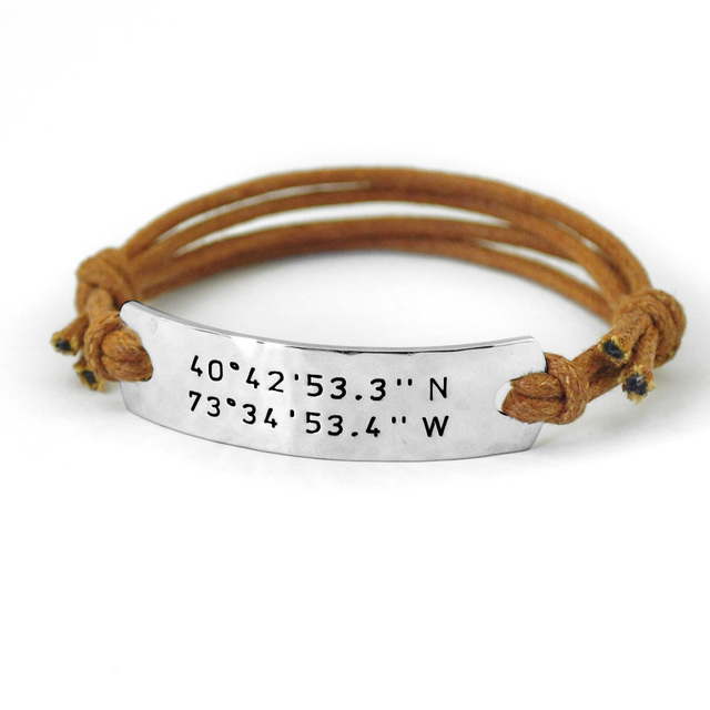product personalized longitude bracelet latitude men custom turntopretty