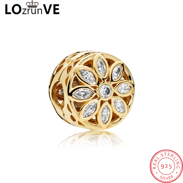 LOZRUNVE 2018 original jewelry s925 sterling silver DIY pendant cereals flower fashion bracelet charm women factory wholesale