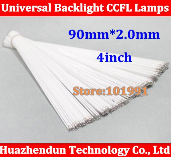 10pcs Free shipping Supper Light CCFL 90 mm * 2.0mm 4 LCD Backlight Lamp tube 90mm 4inch